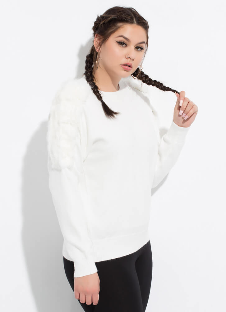 Made Special Fur You Knit Sweater IVORY
