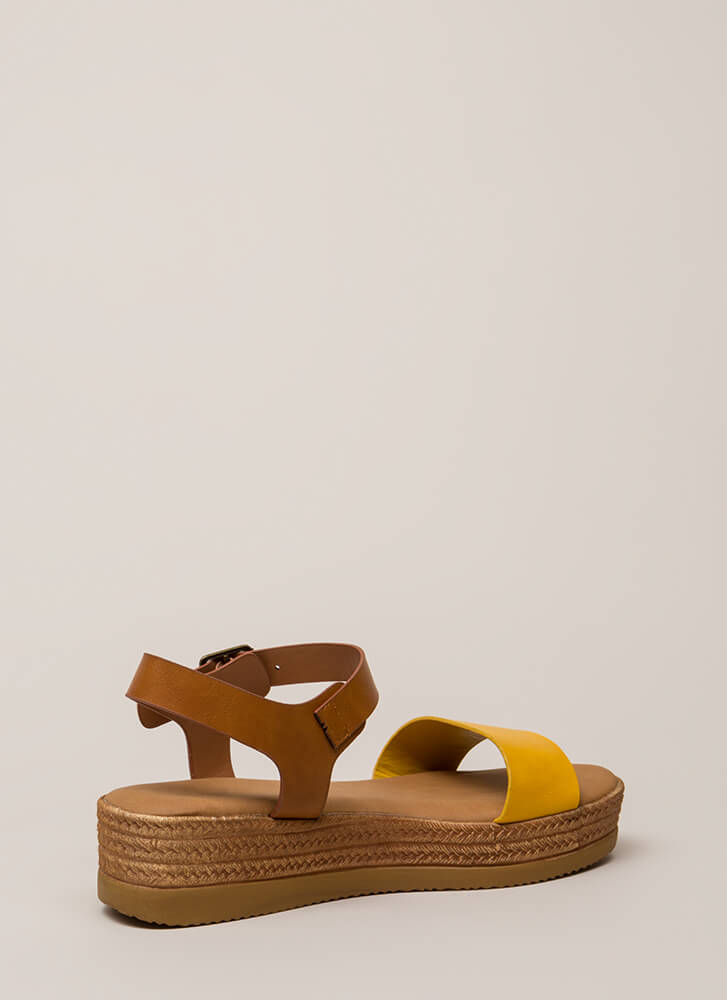 Nice Day Out Strappy Platform Sandals MARIGOLD