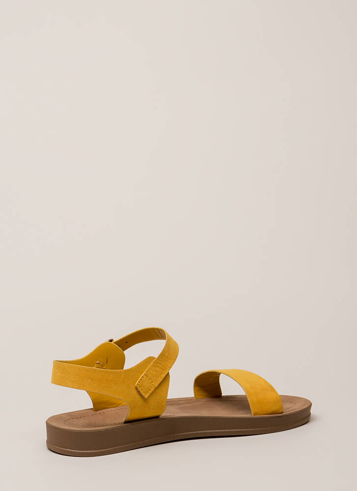 Simple As That Faux Suede Sandals MARIGOLD (You Saved $10)