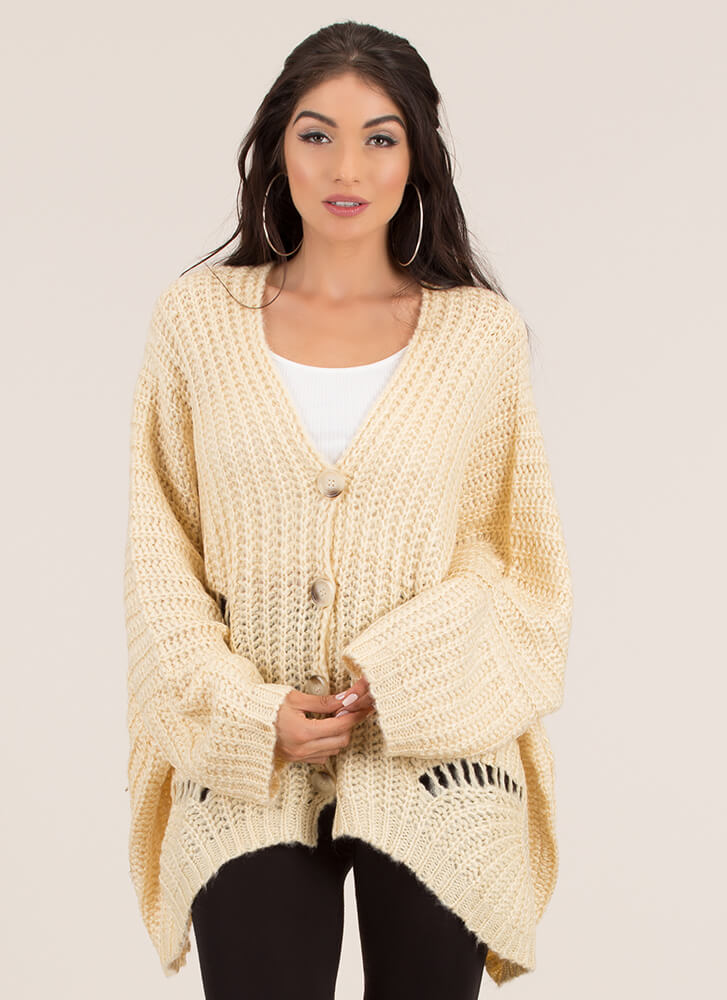 Big Deal Oversized Knit Cardigan CREAM - GoJane.com 5b85c8ee6