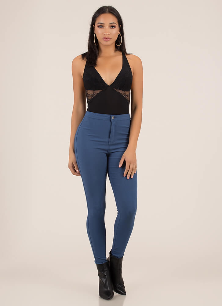 That Perfect Fit High-Waisted Jeggings BLUE