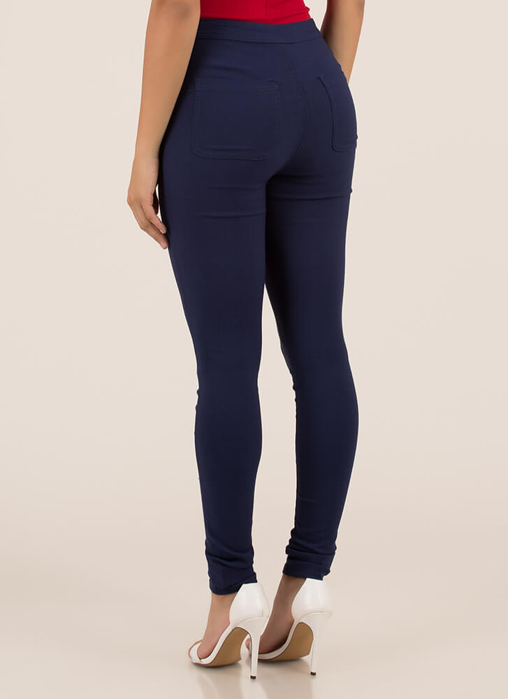 That Perfect Fit High-Waisted Jeggings DKBLUE