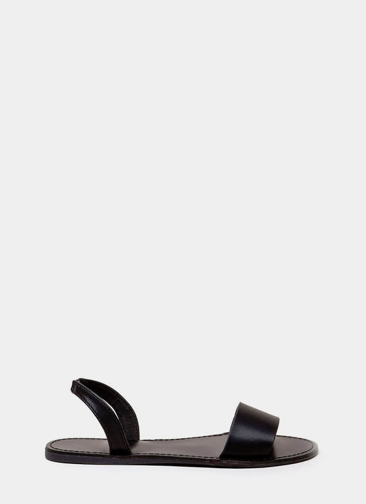 You're Good To Go Slingback Sandals BLACK