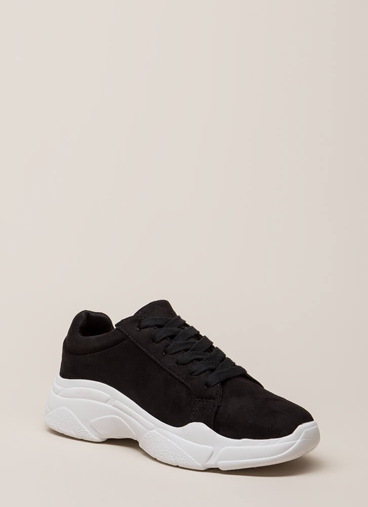 Run Don't Walk Platform Sneakers BLACK (You Saved $25)