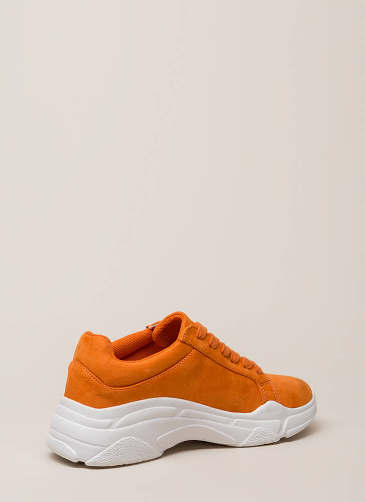 Run Don't Walk Platform Sneakers ORANGE (You Saved $25)