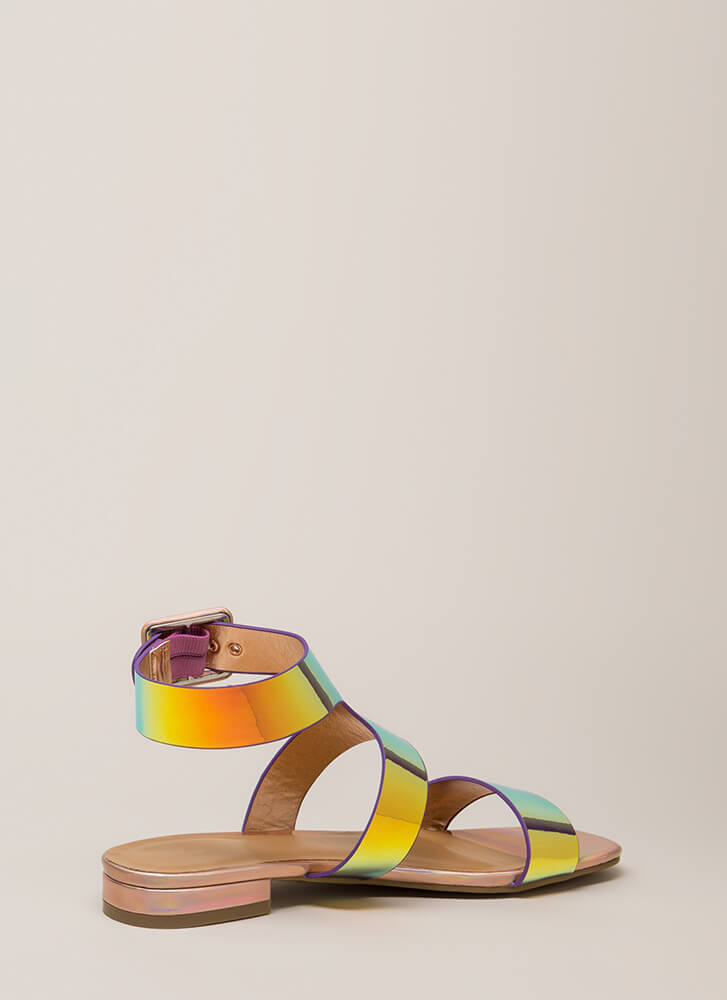 Shiny And New Holographic Sandals MULTI