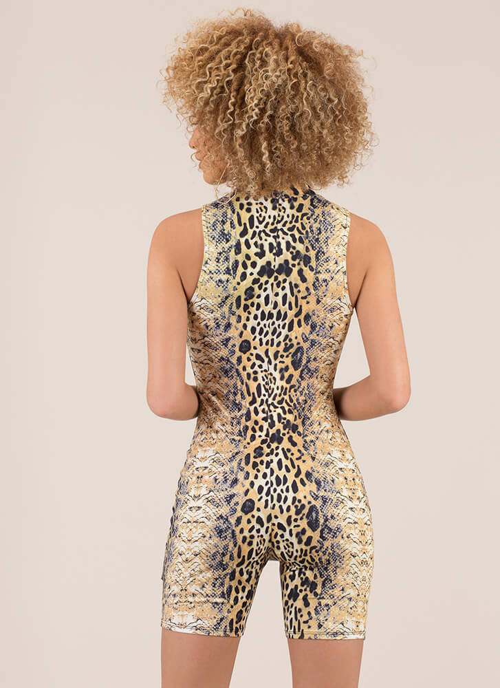Going Wild Leopard And Snake Romper MULTI