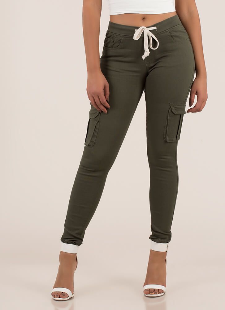 The New Cargo Pant Drawstring Joggers OLIVE
