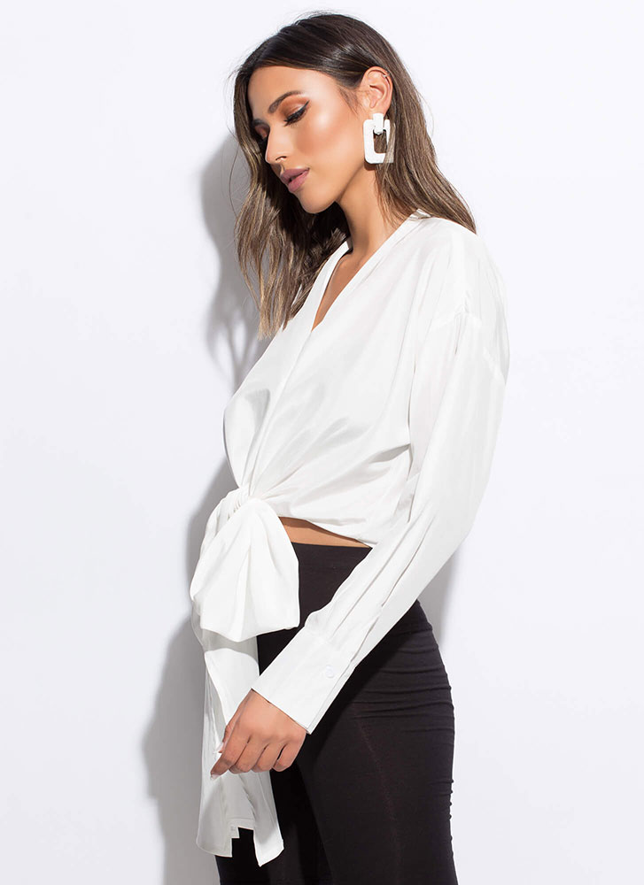 You Do You Tied Multi-Way Blouse WHITE