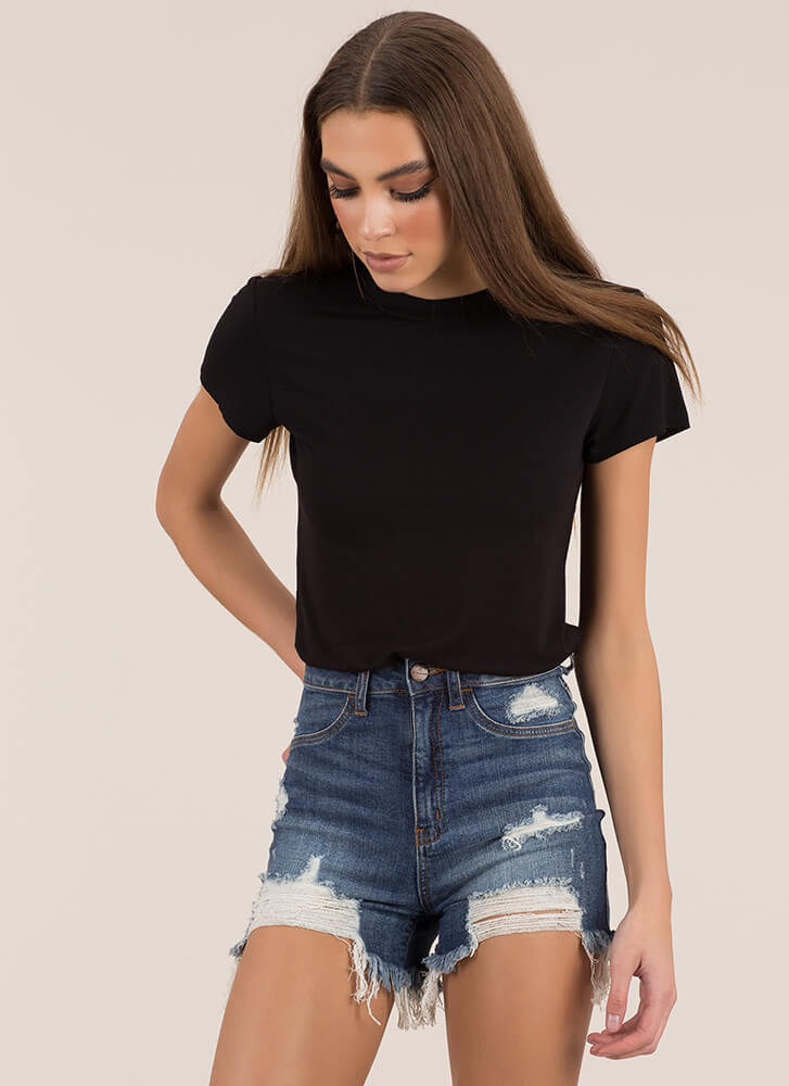 Just Can't Get Enough Basic Tee BLACK