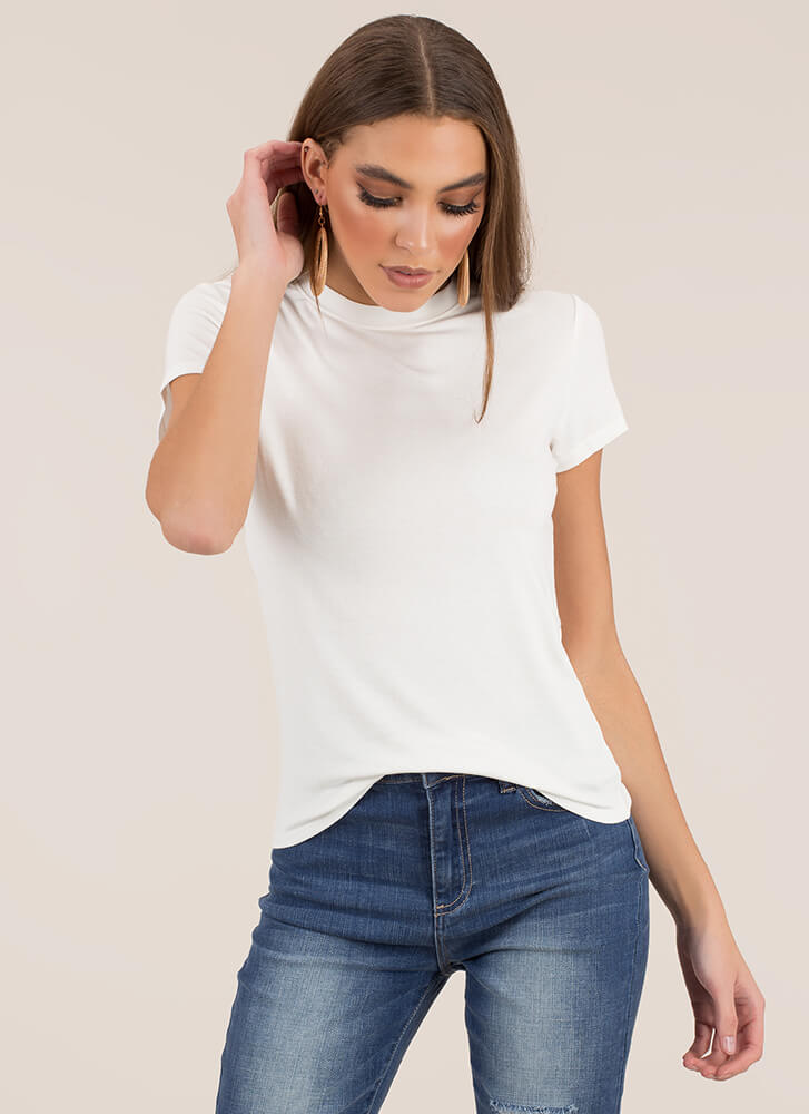 Just Can't Get Enough Basic Tee WHITE