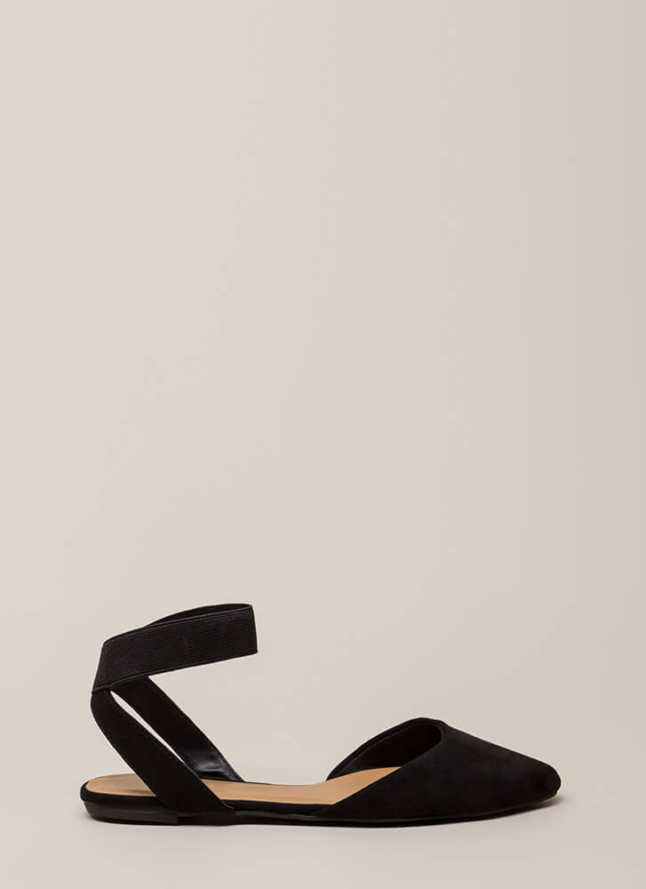 Have Fun Banded Almond-Toe Sandals BLACK