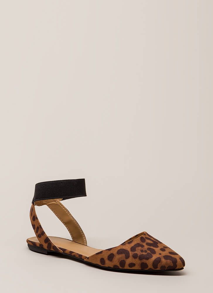 Have Fun Banded Almond-Toe Sandals LEOPARD