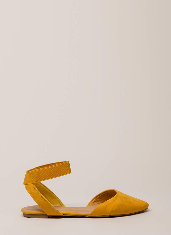 Have Fun Banded Almond-Toe Sandals MARIGOLD