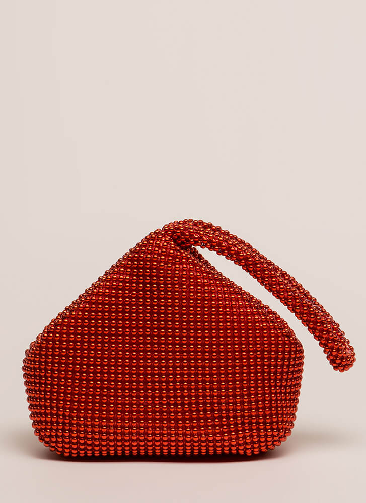 Answer Your Chainmail Studded Handbag RED