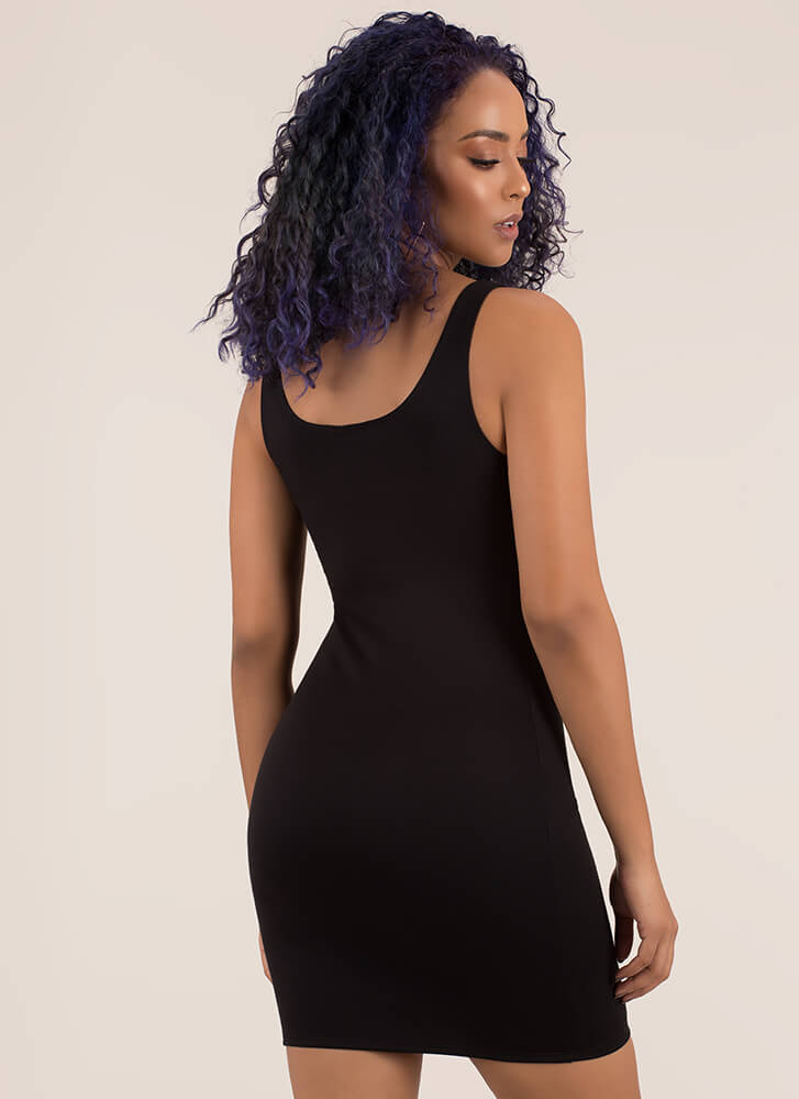 Curve Appeal Sleeveless Minidress BLACK