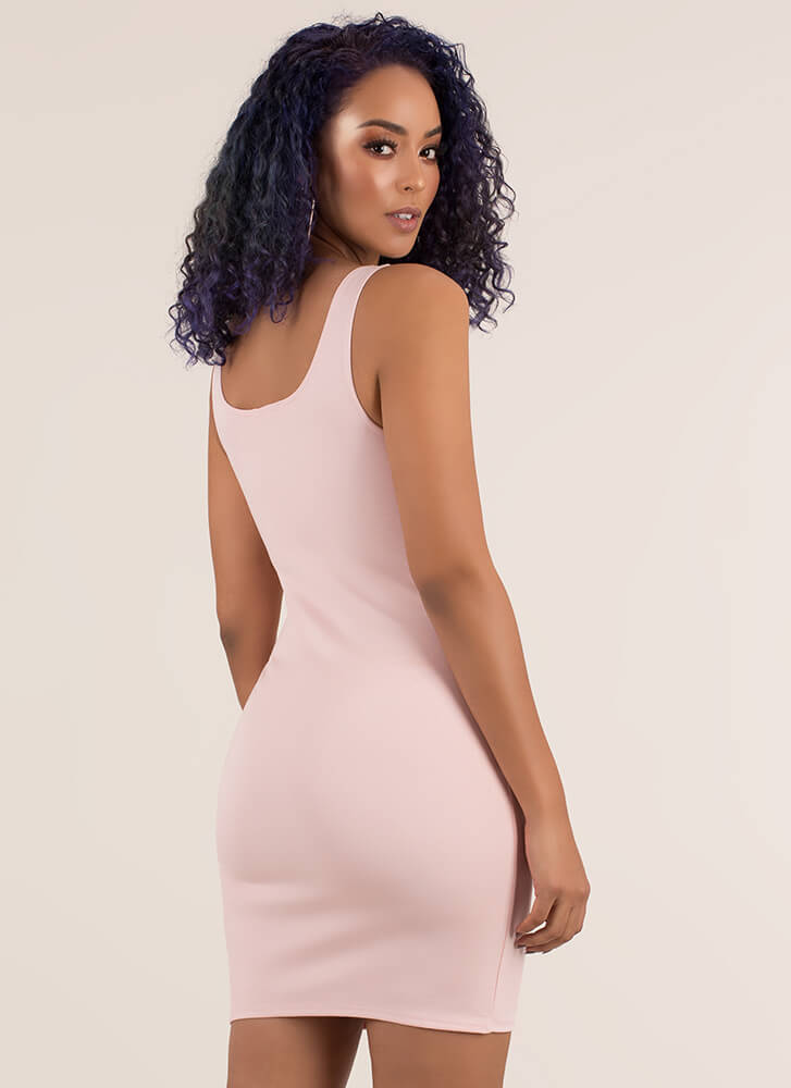 Curve Appeal Sleeveless Minidress BLUSH
