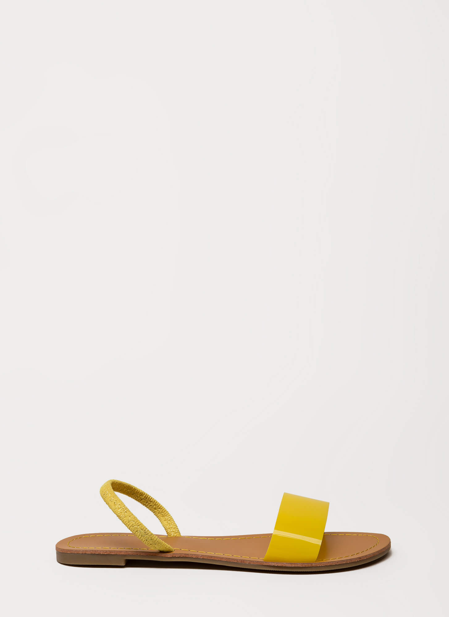 Playtime PVC Strap Slingback Sandals YELLOW