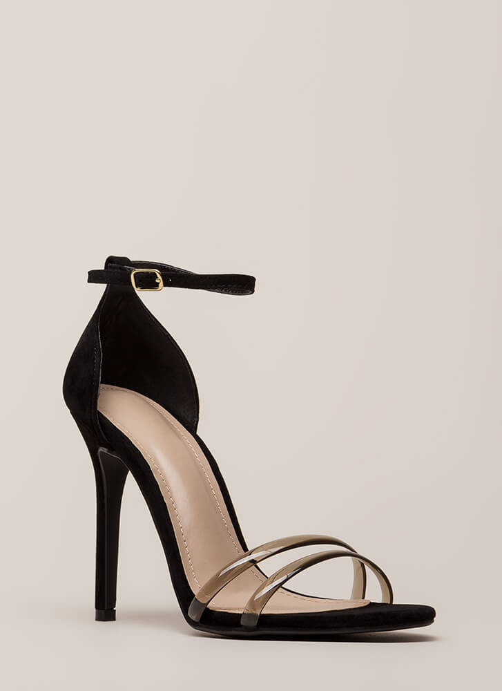 Two Good To Pass Up Strappy Heels BLACK