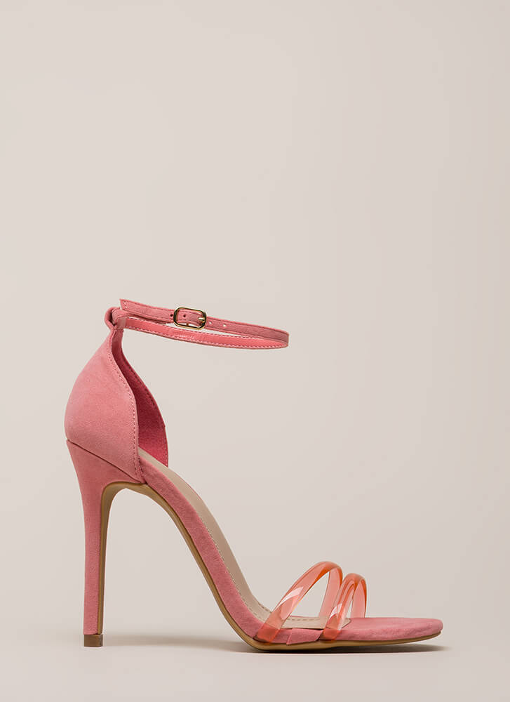 Two Good To Pass Up Strappy Heels PINK