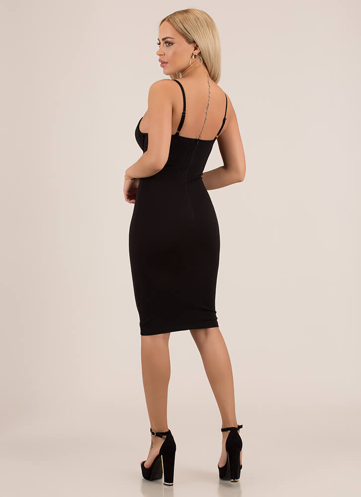 You're So Busted Underwire Midi Dress BLACK (You Saved $31)