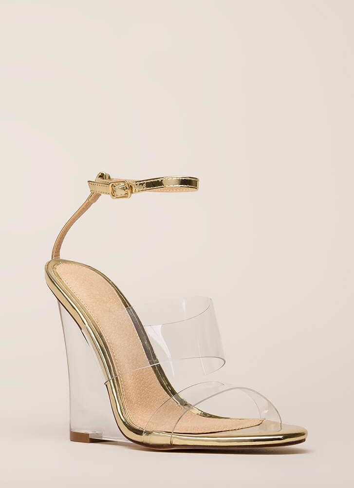 Do I Make Myself Clear Illusion Wedges GOLD