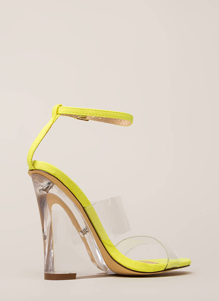 Do I Make Myself Clear Illusion Wedges YELLOW