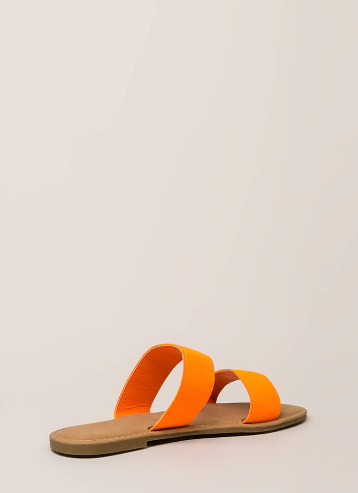 Making The Bands Strappy Slide Sandals NEONORANGE (Final Sale)