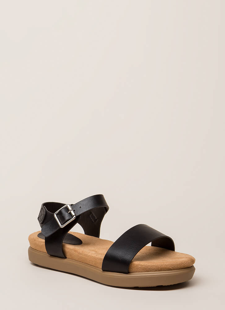 Let's Go Away Platform Sandals BLACK (Final Sale)