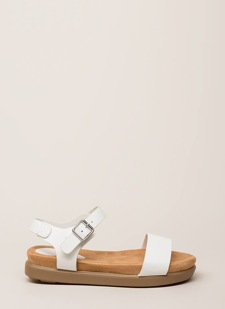 Let's Go Away Platform Sandals WHITE (Final Sale)