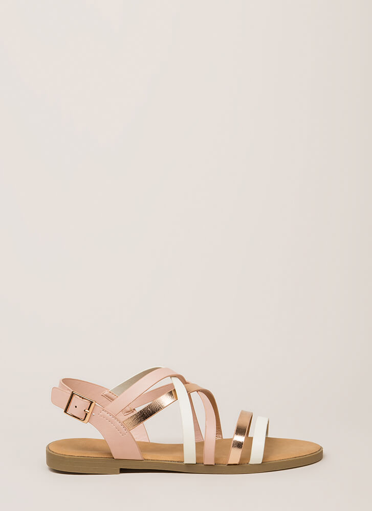 Your Feet Will Shine Strappy Sandals ROSE