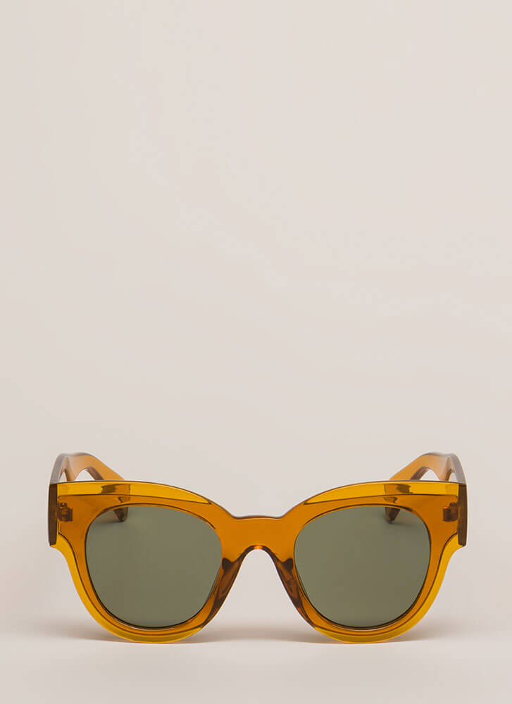Day In The Sun Chunky Sunglasses BROWN (You Saved $4)