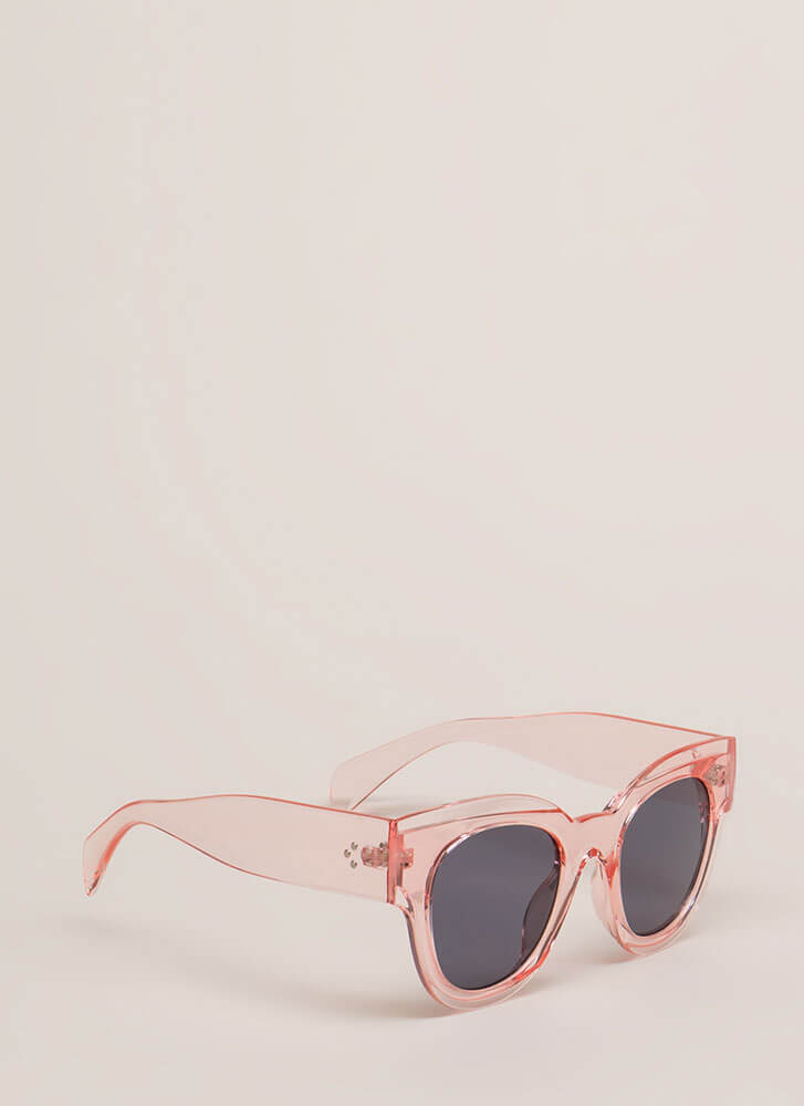 Day In The Sun Chunky Sunglasses PINK