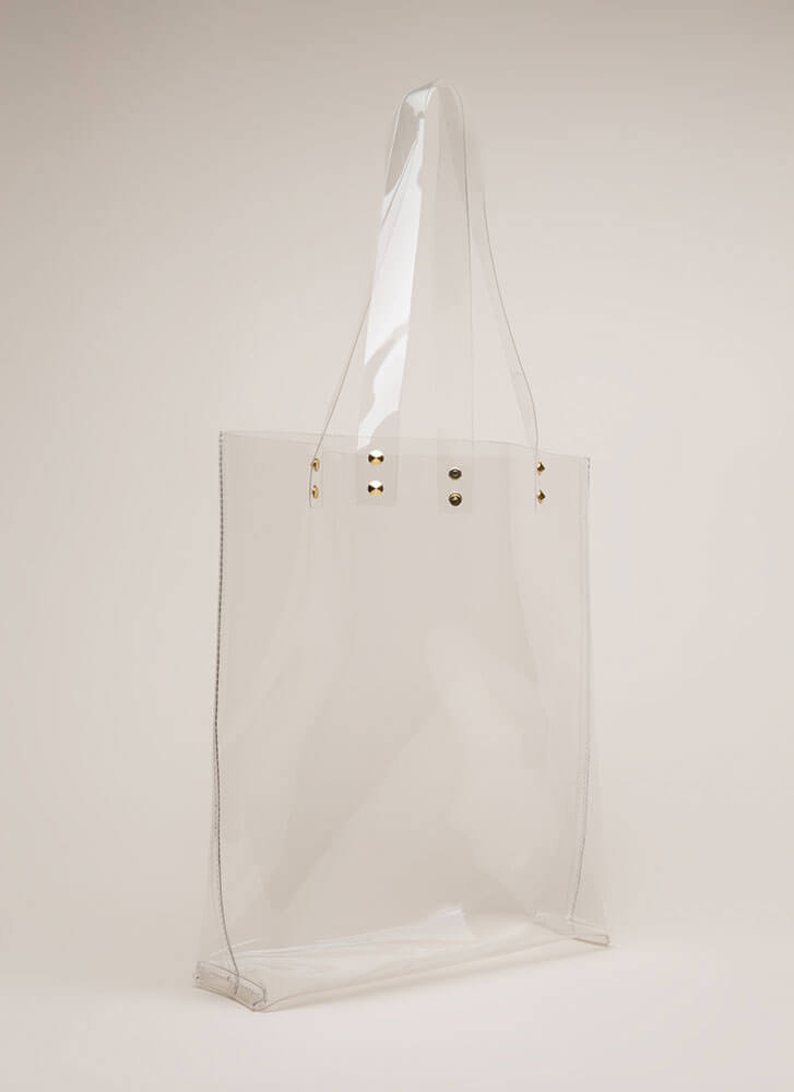 Just For Show Clear PVC Tote Bag CLEAR