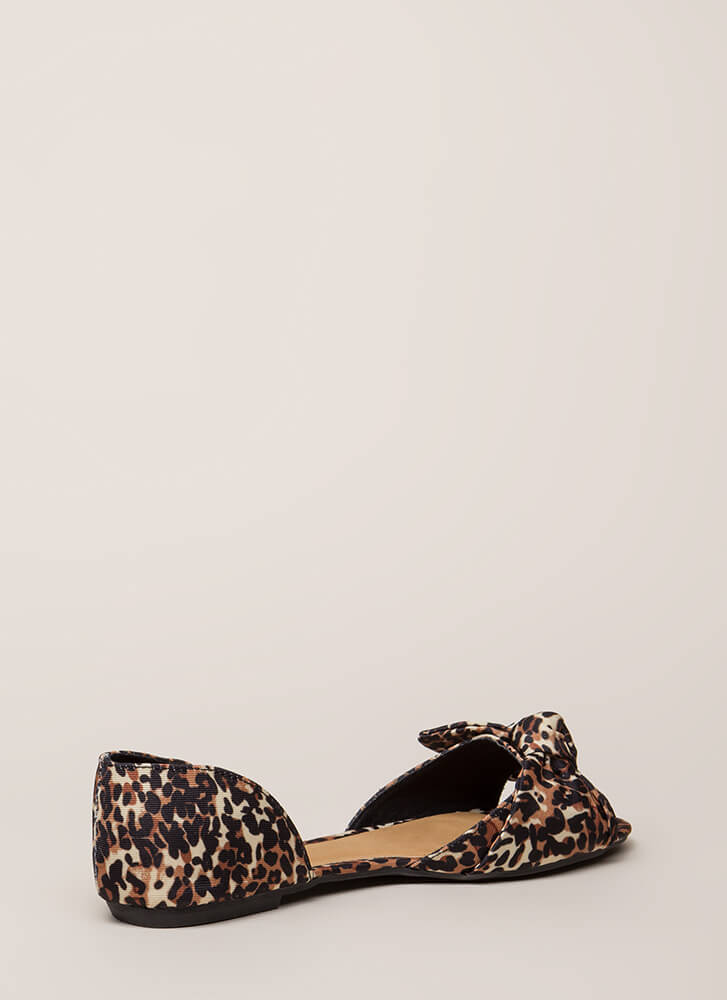 Bow All Out Leopard D'Orsay Flats LEOPARD