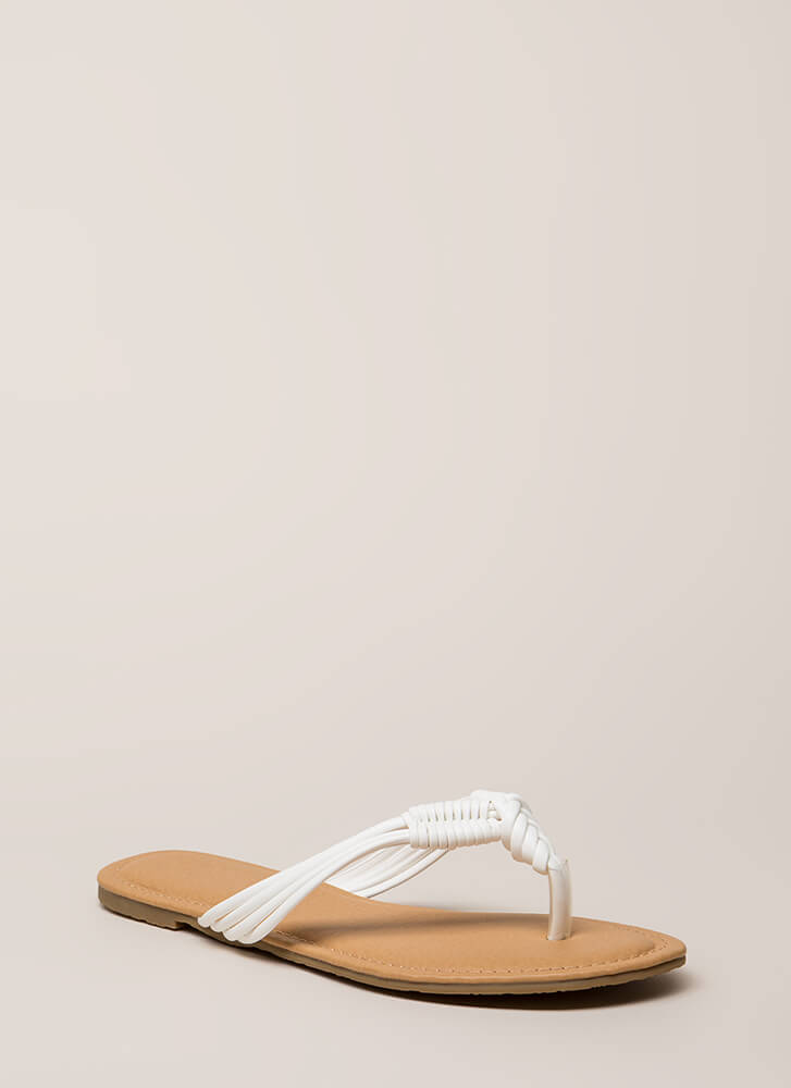 Wrap It Up Strappy Thong Sandals WHITE