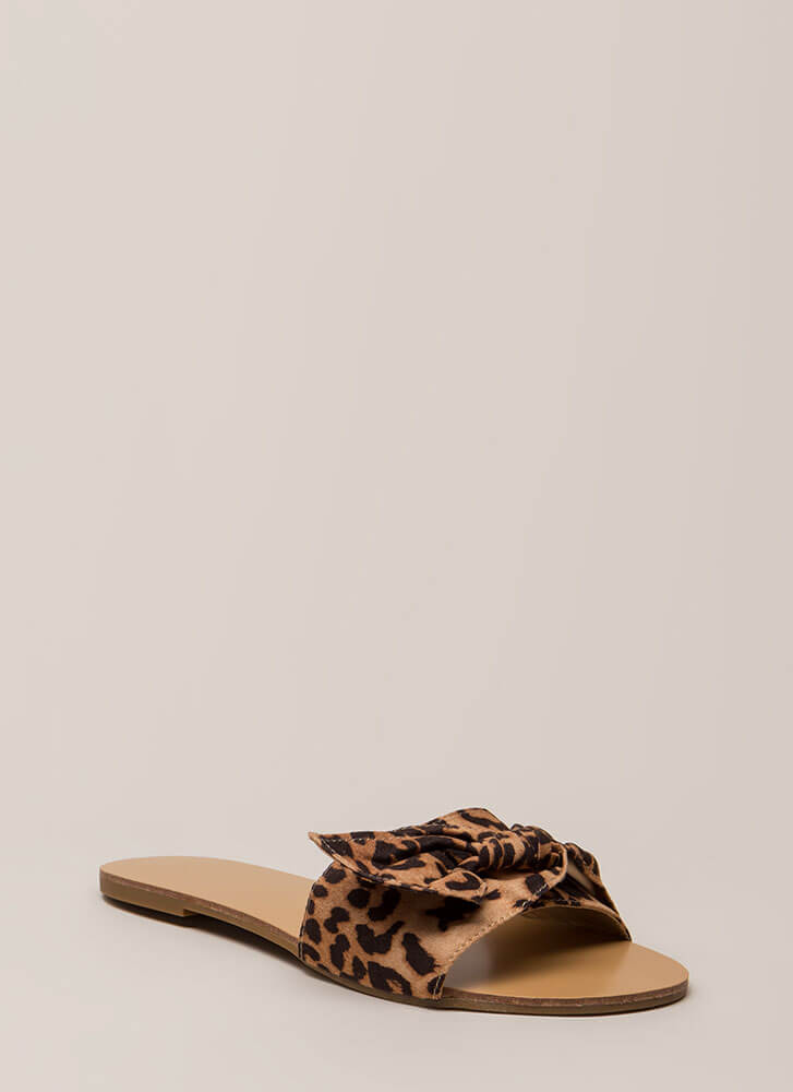Can You Knot Patterned Slide Sandals LEOPARD (You Saved $14)