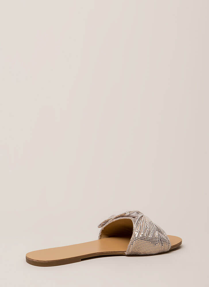 Can You Knot Patterned Slide Sandals ROSEGOLD (You Saved $14)
