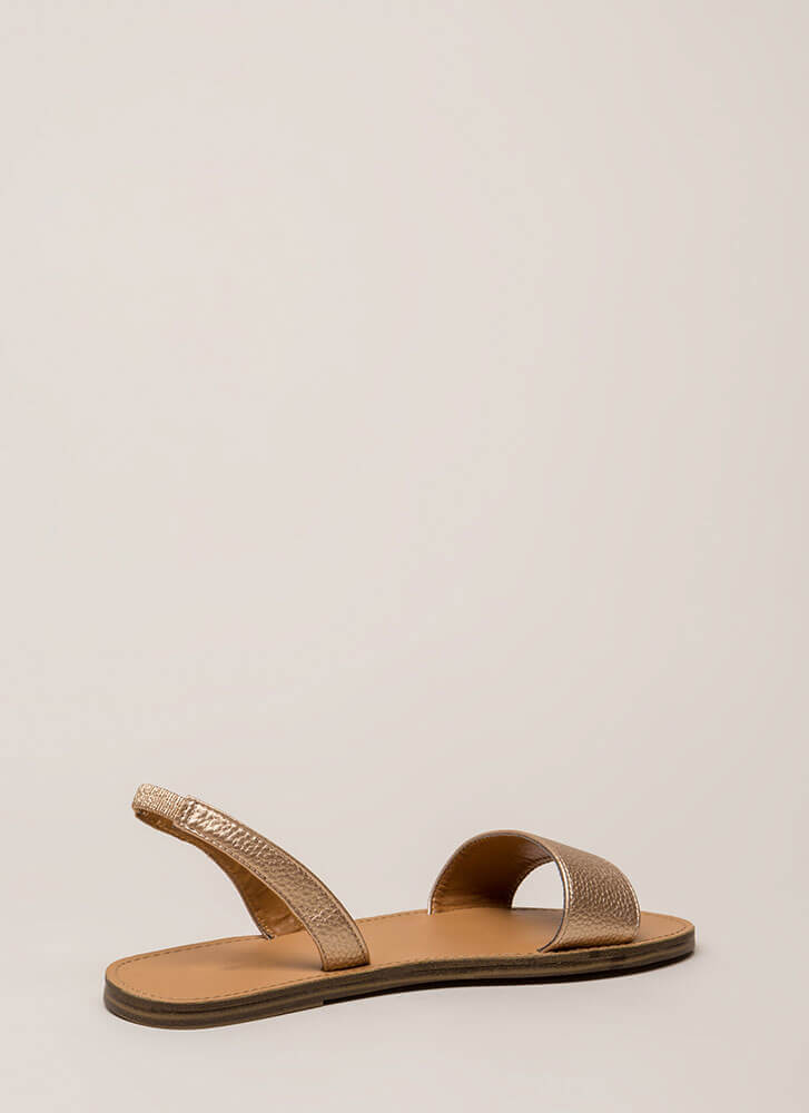 Let's Go Around Again Slingback Sandals ROSEGOLD