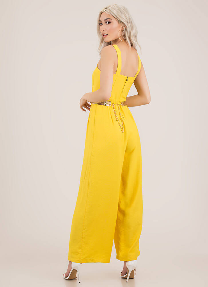 Chic Your Mind Palazzo Jumpsuit YELLOW