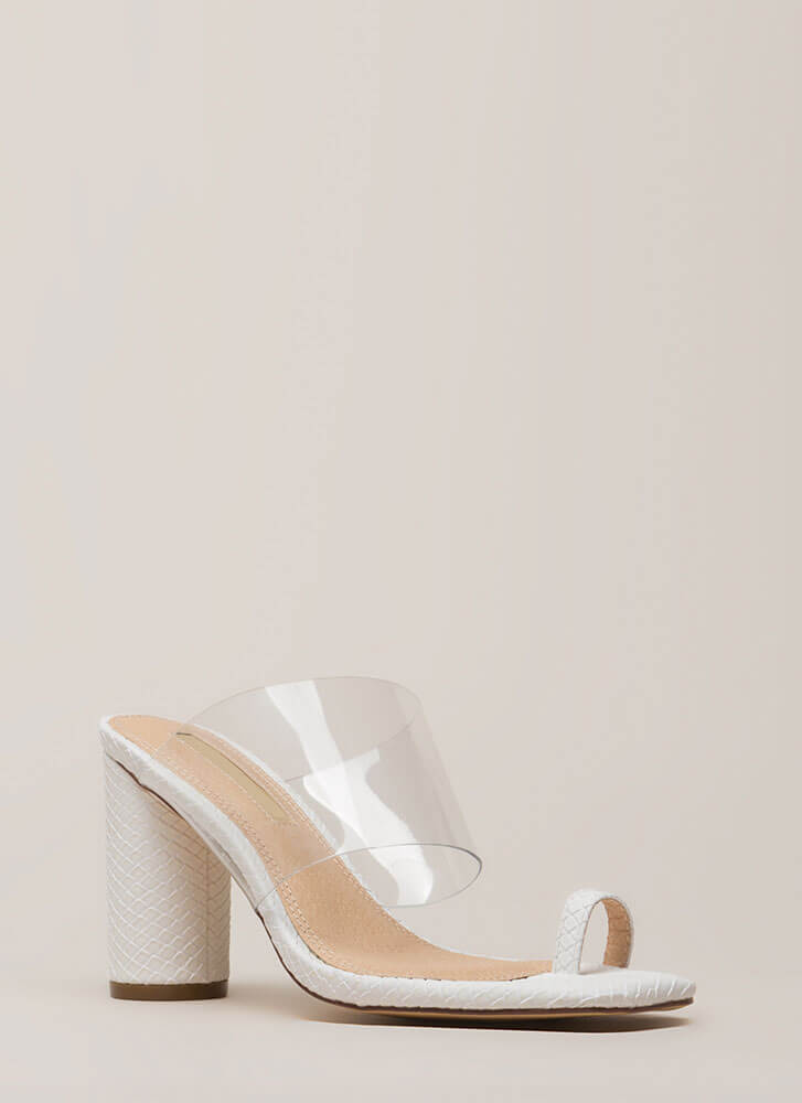 Clear Conscience Chunky Illusion Heels WHITE