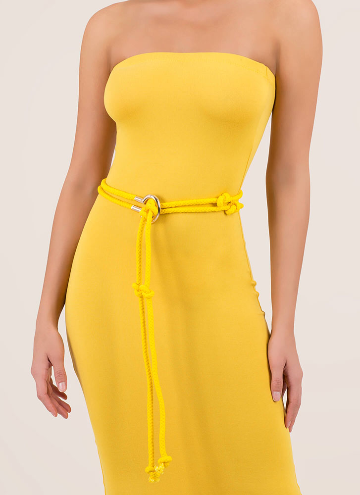 Knot Expected Double Rope Belt YELLOW