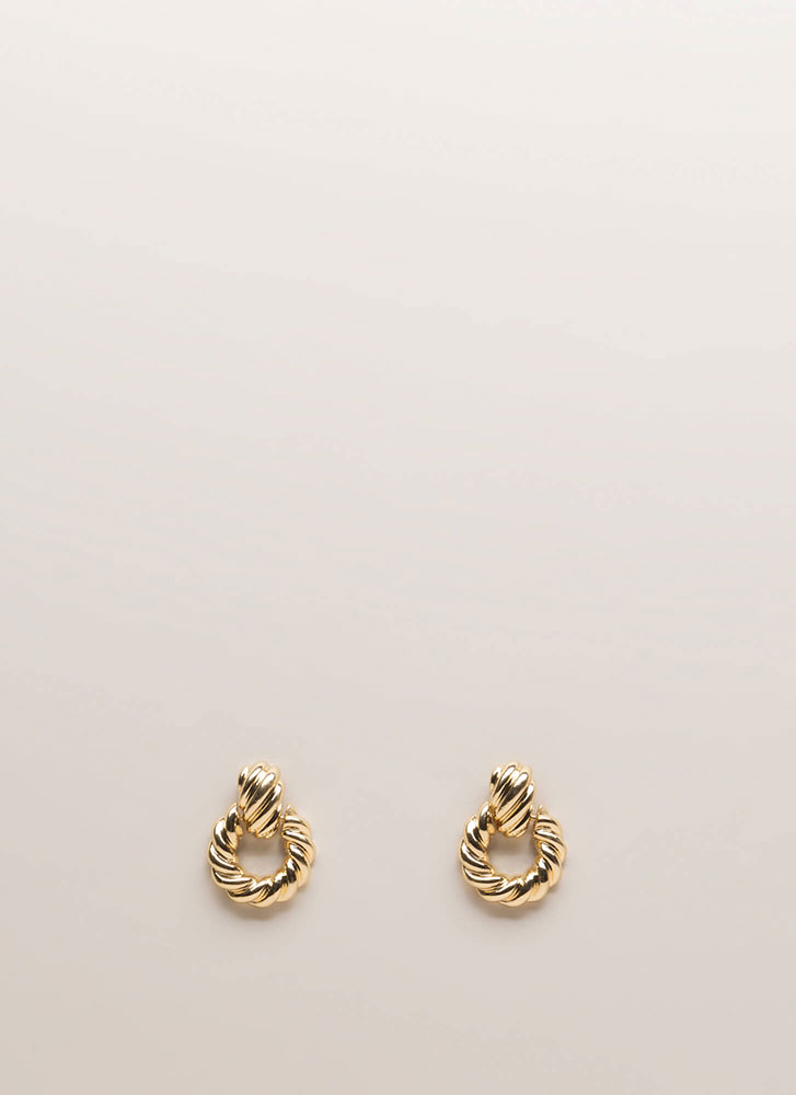 Knock Knock Twisted Earrings GOLD