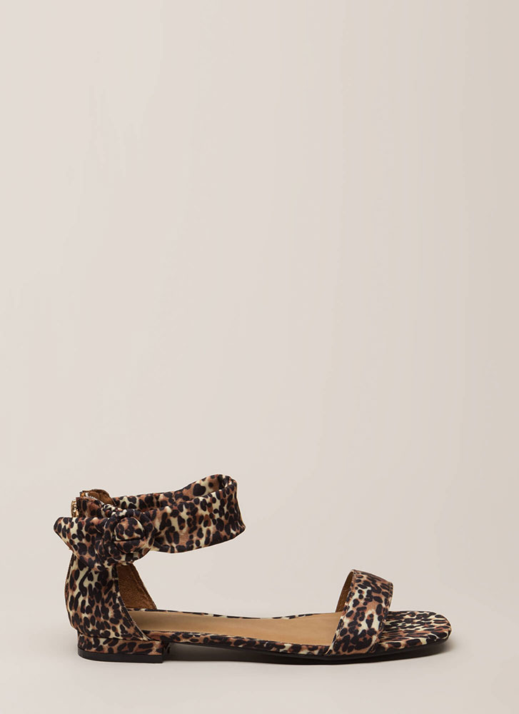Leopard In Love Ankle Strap Sandals LEOPARD