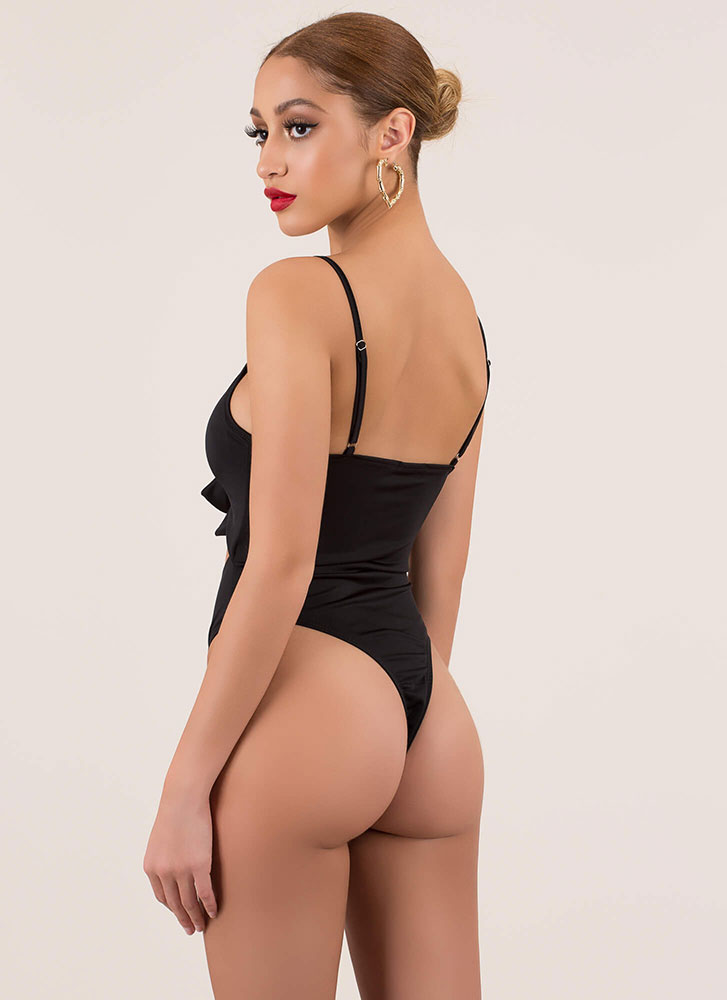 Tie It Again Knotted Cut-Out Swimsuit BLACK