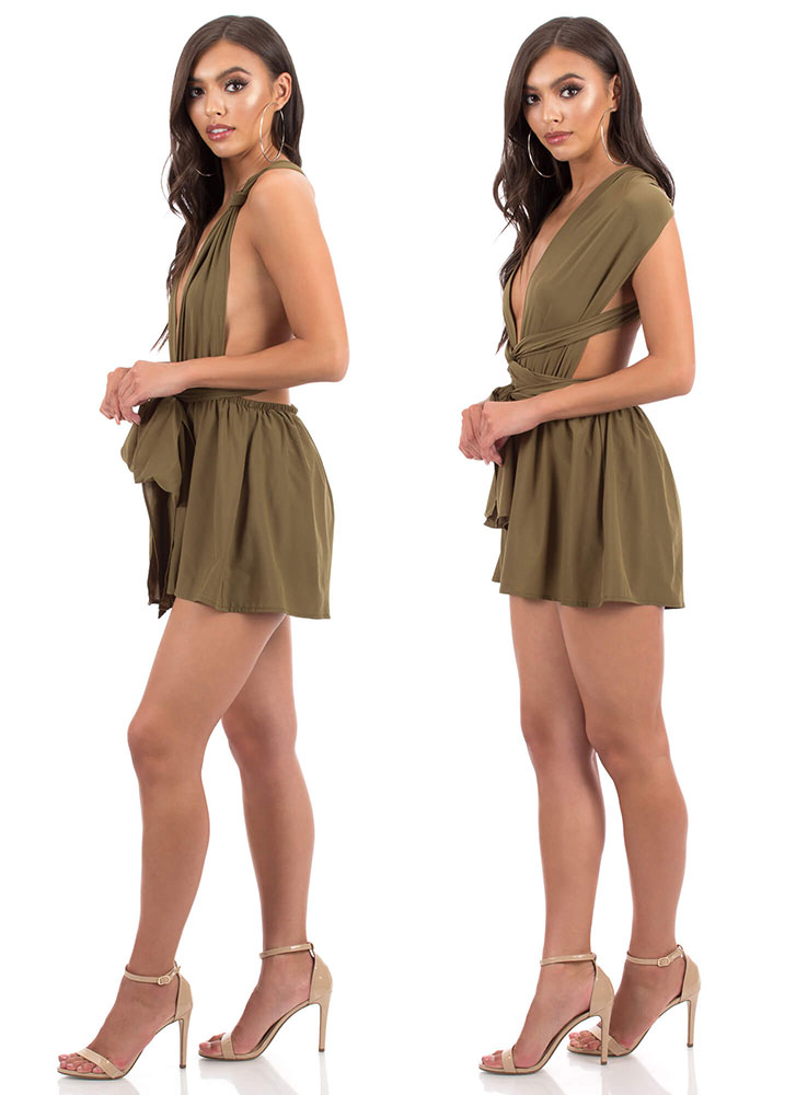 Convertible Cutie Multi-Way Romper OLIVE