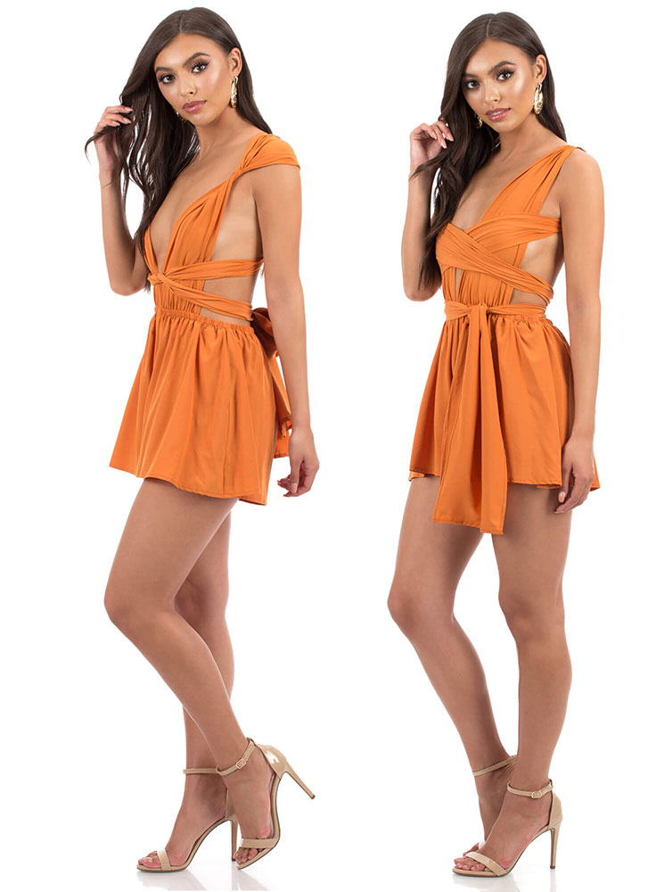 Convertible Cutie Multi-Way Romper RUST