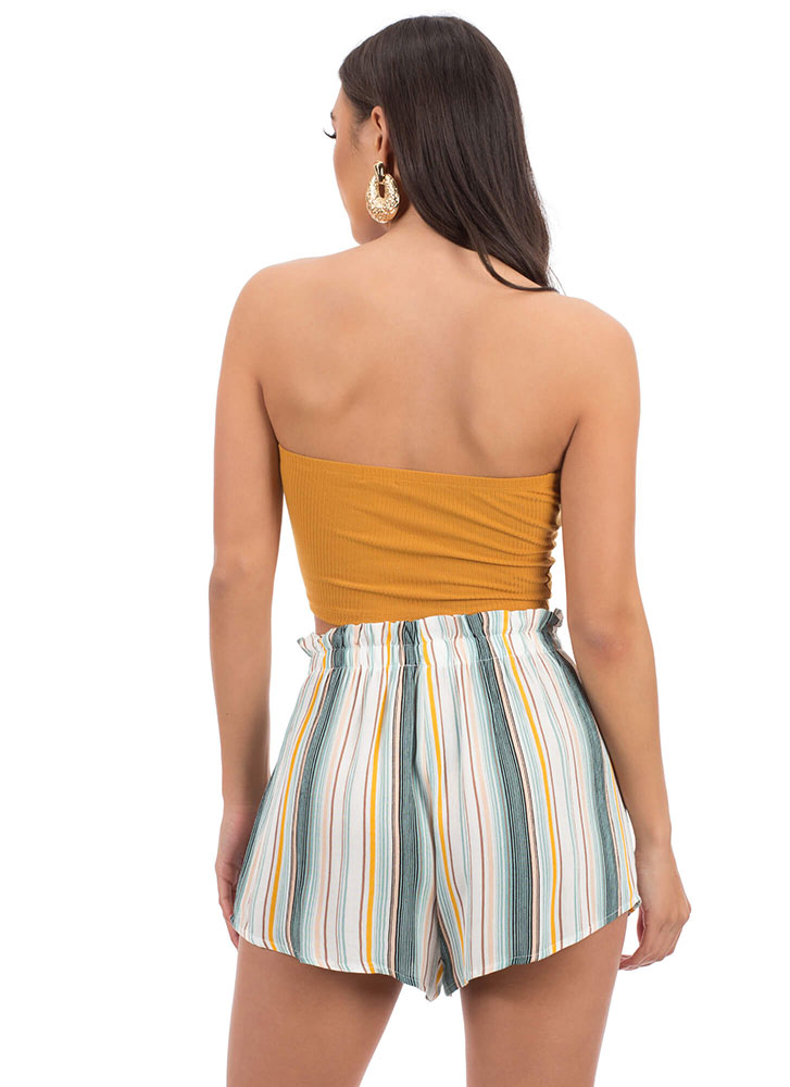 Beach Bungalow Striped Tied Shorts MINTMULTI (Final Sale)