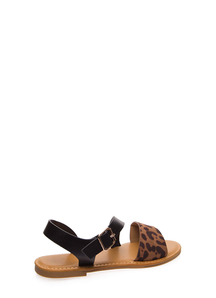 Animal Crossing Strappy Leopard Sandals LEOPARD
