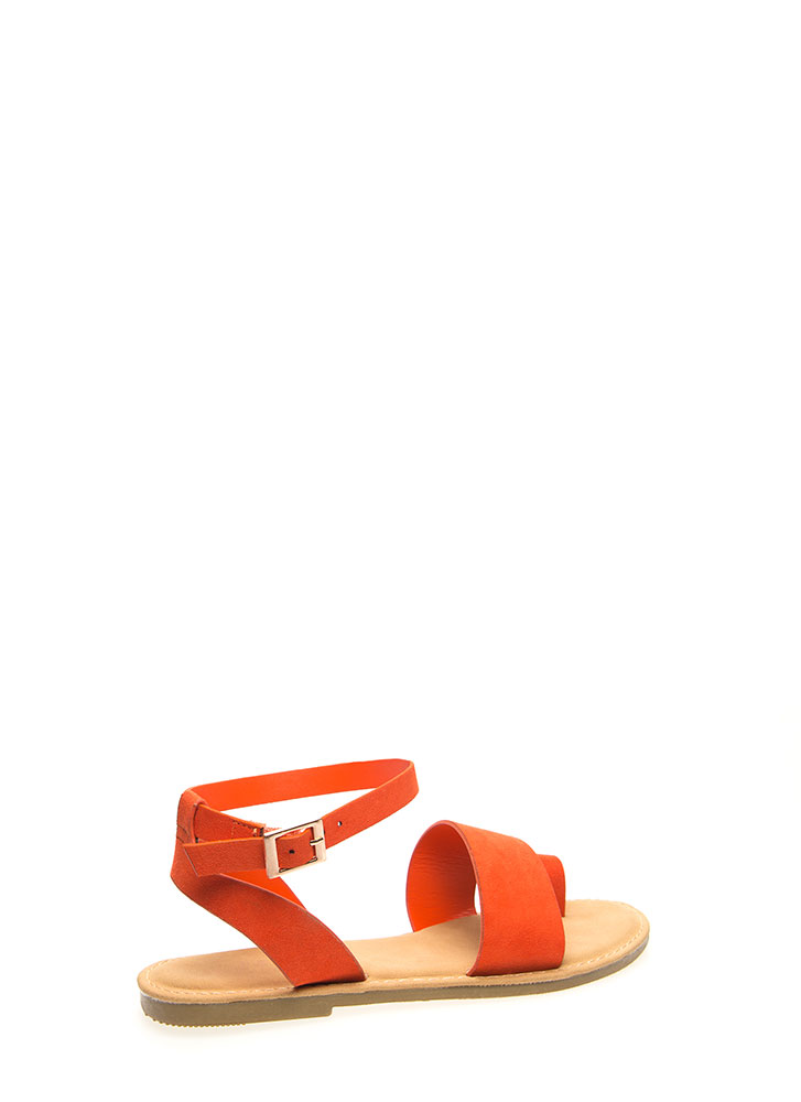 Toe In The Door Strappy Sandals ORANGE (You Saved $12)